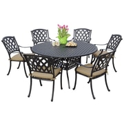 Darlee Ocean View 7 Piece Dining Set w/ Cushion