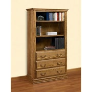 A&E Wood Designs Britania Drawers 72'' Standard Bookcase