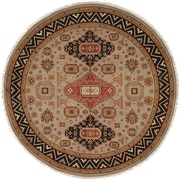 Wildon Home   Eureka Hand-Woven Brown/Black Area Rug; Round 8'