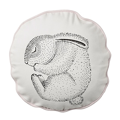 Bloomingville Sleeping Rabbit Cotton Throw Pillow WYF078278673455