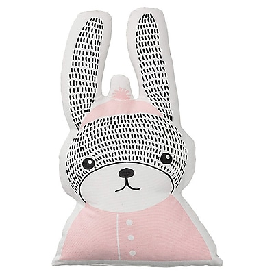 Bloomingville Rabbit Shaped Cotton Throw Pillow WYF078278673458