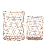 Bloomingville 2 Piece Metal Storage Basket Set