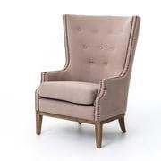dCOR design Mayfair Arm Chair; Linen - Taupe Grey