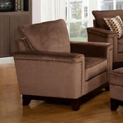 Wildon Home   Opulence Arm Chair; Brown