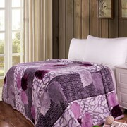 DaDa Bedding Orchid Blossoms Print Reversible Soft Warm Throw Blanket; 90'' L x 66'' W