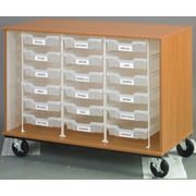 Stevens ID Systems Mobiles Open and 18 Trays