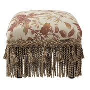 Jennifer Taylor Fiona Traditional Decorative Ottoman