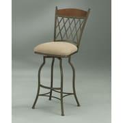 Impacterra Danbury 30'' Rust Bar Stool w/ Moccasin Suede Fabric