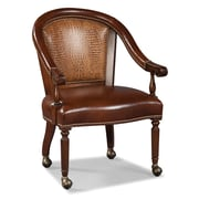 Fairfield Chair Castered Leather Arm Chair