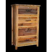 Utah Mountain Barnwood 4 Drawer Lateral File Cabinet