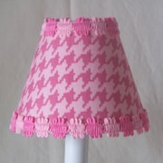 Silly Bear 5'' Candy Coated Houndstooth Fabric Empire Candelabra Shade