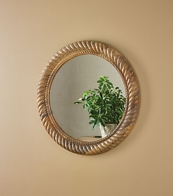 ParkDesignsSplitP Wood Rope Carving Wall Mirror