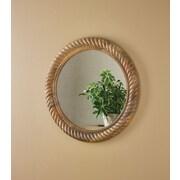 ParkDesignsSplitP Wood Rope Carving Wall Mirror