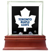 Steiner Sports NHL Glass Single Puck Case; Toronto Maple Leafs