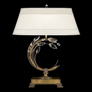 Fine Art Lamps Crystal Laurel Gold 31'' H Table Lamp with Empire Shade