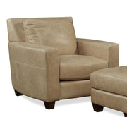 Palatial Furniture Marin Leather Arm Chair; Desert Sand