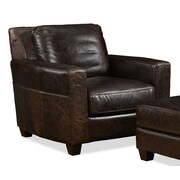 Palatial Furniture Marin Leather Arm Chair; Ravenswood Cocoa