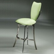 Impacterra Paris 26'' Swivel Counter Stool in Black Nickel with Lime Fabric