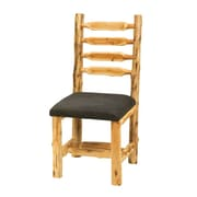 Fireside Lodge Traditional Cedar Log Upholstered Side Chair