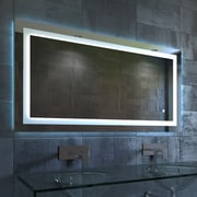 Nezza Lavva Contemporary Illuminated LED Bathroom Mirror; 27.5'' H x 48'' W x 1.25'' D