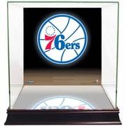 Steiner Sports Logo Background Case; Philadelphia 76ers