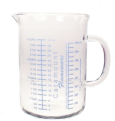 Catamount Glass 4 Cup Glass Measuring Cup WYF078278938461