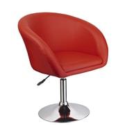 BestMasterFurniture Adjustable Swivel Coffee Arm Chair; Red