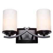 Y Decor Brina 2 Light Vanity Light; Oil Rubbed Bronze