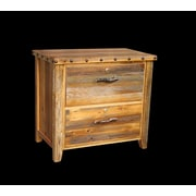 Utah Mountain Barnwood 2 Drawer Lateral File Cabinet