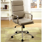 A&J Homes Studio Cancun High-Back Office Chair with Arms; Brown