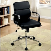 A&J Homes Studio Cancun Mid-Back Office Chair with Arms; Black