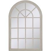 Paragon Gray Wash Windowpane Wall Mirror