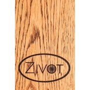 Zivot USA 2 Bike Adjustable Horizontal Wall Mounted Bike Rack; Golden Oak by