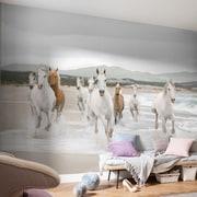 WallPops! Komar White Horses Wall Mural