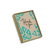 """Viabella, 10 Pc, Love Mother Earth Boxed Thank You Cards Triangles, Multicolor, 4"""" x 5.25"""", EA (18000)"""