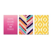 "Viabella, Colorful Gradients Large Journal 3 Pc Assortment, Ruled, 8.5"" x 5.75"", Multicolor (93208)"