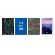"""Viabella, Encouraging Sentiments Small Journal 4 Pc Assortment, Ruled , 5.5"""" x 4"""", Multicolor (93209)"""