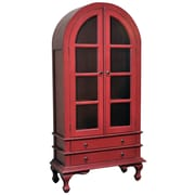 Casual Elements Josephine Cabinet; Light Distressed Bali Red