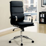 A&J Homes Studio Cancun High-Back Office Chair with Arms; Black