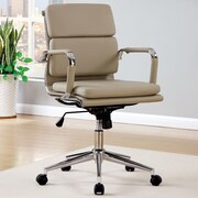 A&J Homes Studio Cancun Mid-Back Office Chair with Arms; Brown