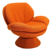 ComfortChair Rio Fabric Lounge Chair; Orange