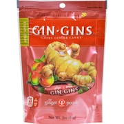 Ginger People Gin Gins Chewy Ginger Candy Spicy Apple - 3 oz - Case of 24