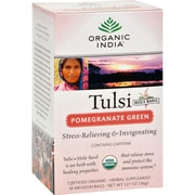 Organic India Tulsi Tea Pomegranate Green - 18 Tea Bags - Case of 6