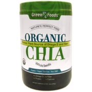 Green Foods Chia - Organic - Whole Seeds - 16 oz
