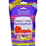 Yummy Earth Organic Vitamin C Drops - Anti-Oxifruits - Case of 6 - 3.3 oz
