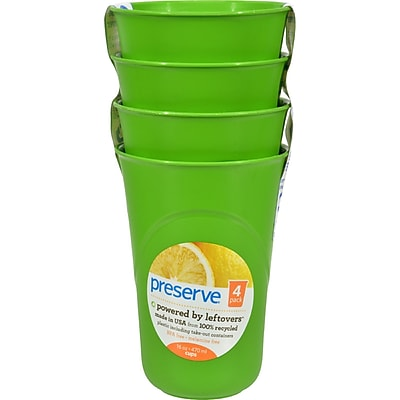 Preserve Reusable Cups Apple Green - 16 oz - Case of 8 - 4 Pack 2399180