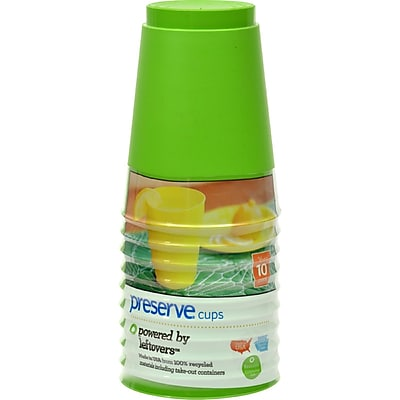 Preserve Tumblers Reusable Cups - Apple Green - Case of 12 - 10 Packs - 16 oz 2399166
