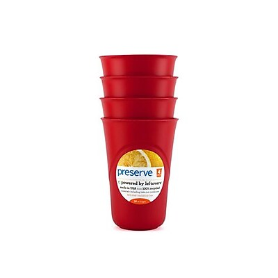 Preserve Everyday Cups - Pepper Red - Case of 8 - 4 Packs 2399174