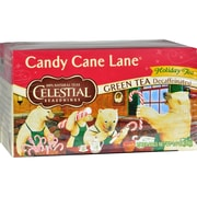 Celestial Seasonings Holiday Green Tea - Candy Cane Lane - Decaffeinated - Case of 6 - 20 Bag