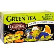 Celestial Seasonings Green Tea Caffeine Free Mandarin Orchard - 20 Tea Bags - Case of 6